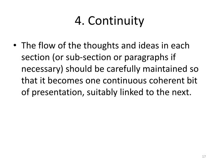4. Continuity