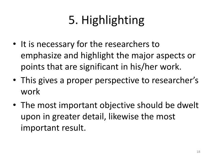 5. Highlighting