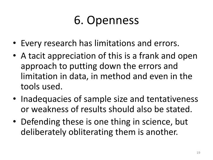 6. Openness