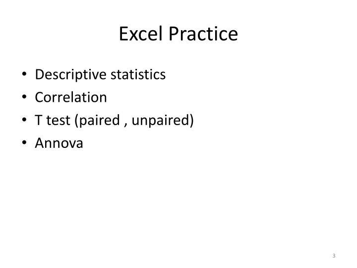 Excel Practice