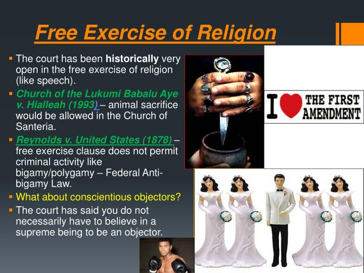 Free Exercise of Religion
