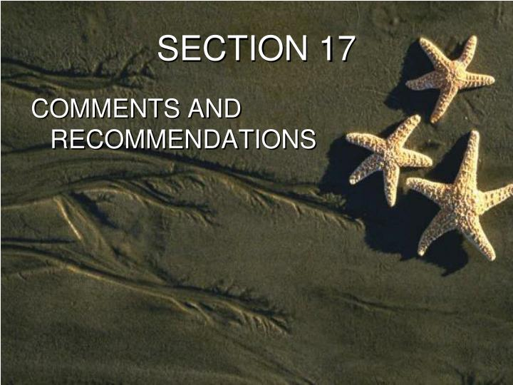 SECTION 17