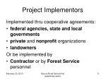 project implementors