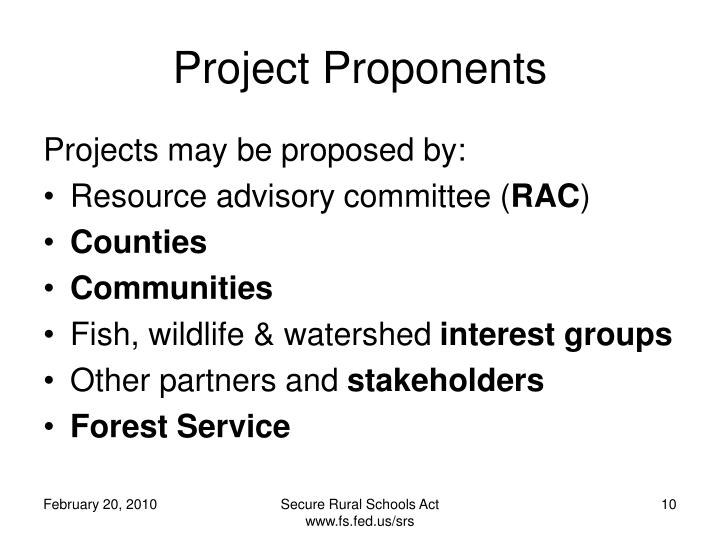 Project Proponents