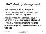 rac meeting management