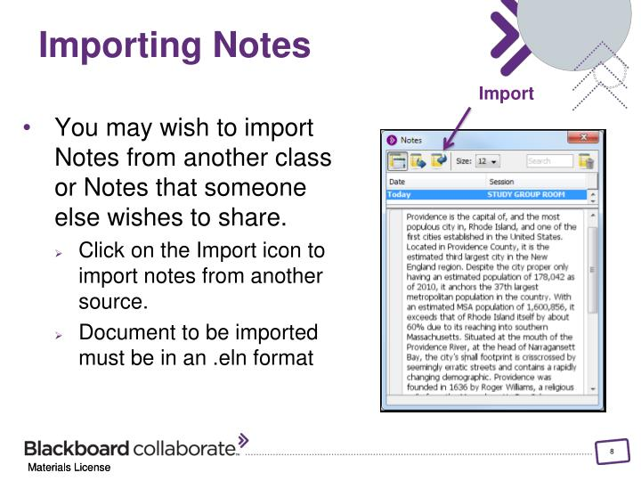 Importing Notes