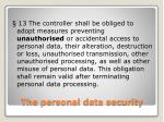 the personal data security