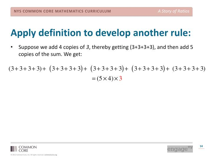 Apply definition to develop another rule: