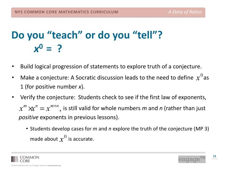 "Do you ""teach"" or do you ""tell""?"
