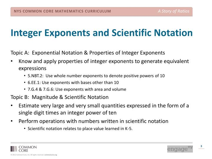 Integer Exponents and Scientific Notation