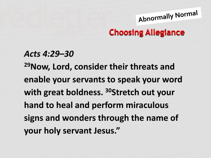 Acts 4:29–30