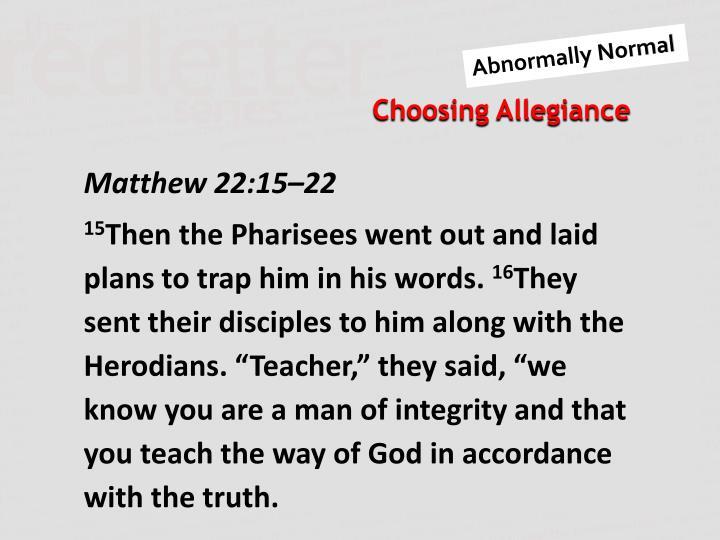 Matthew 22:15–22