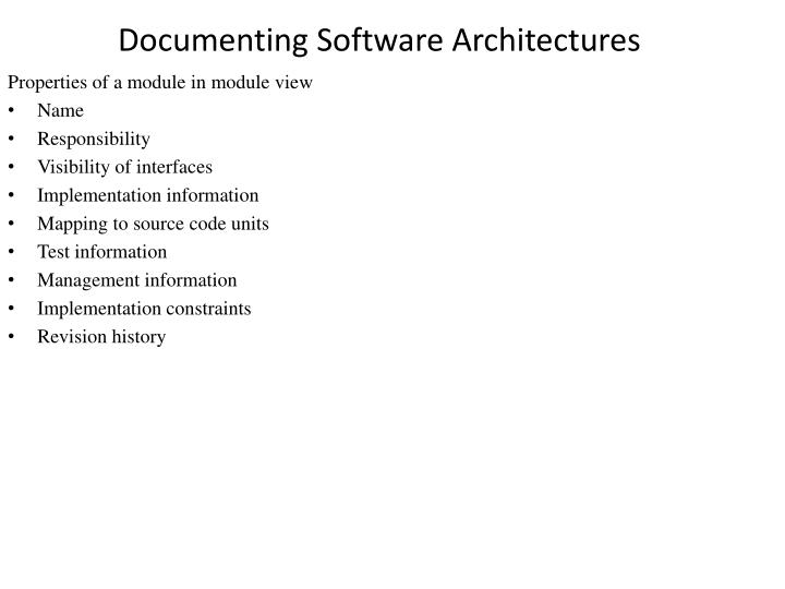 Documenting software architectures2