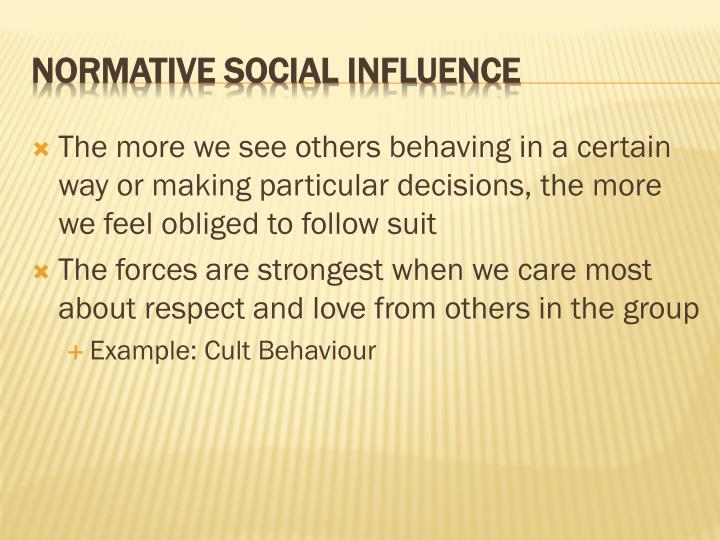 The more we see others behaving in a certain way or making particular decisions, the more we feel obliged to follow suit