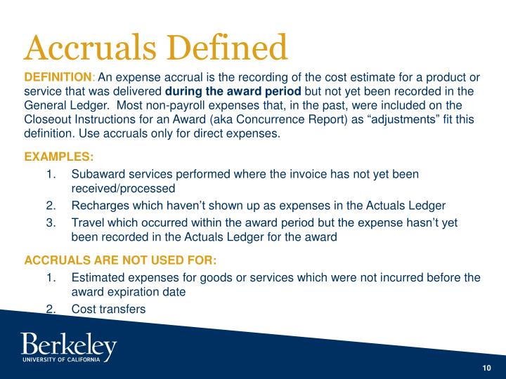Accruals Defined