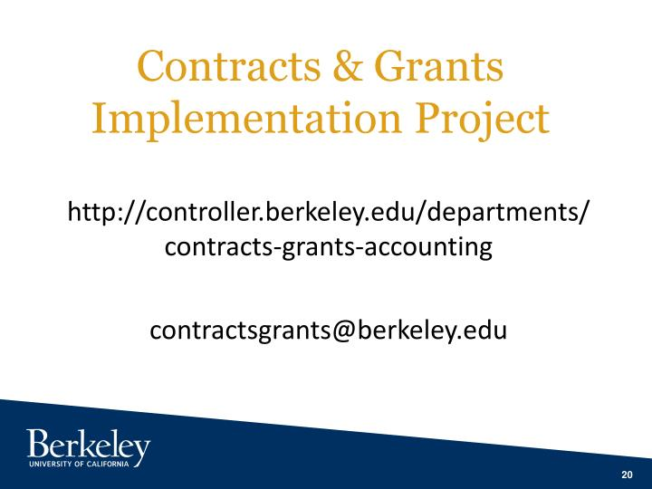 Contracts & Grants