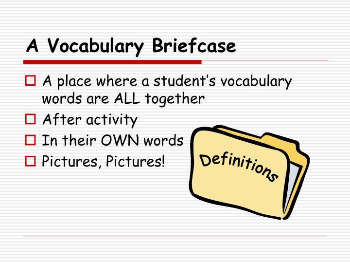 A Vocabulary Briefcase
