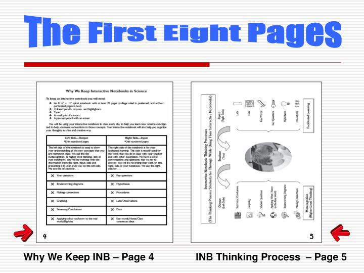 The First Eight Pages