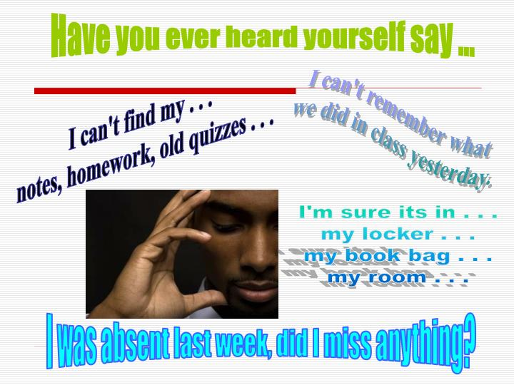 Have you ever heard yourself say ...