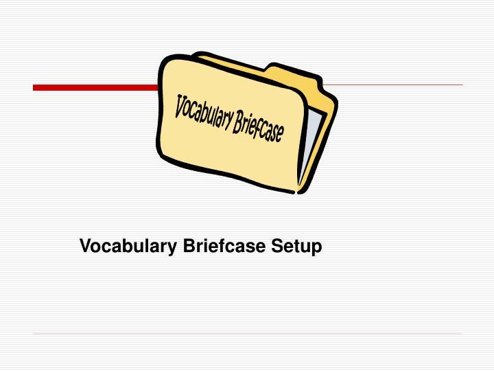 Vocabulary Briefcase