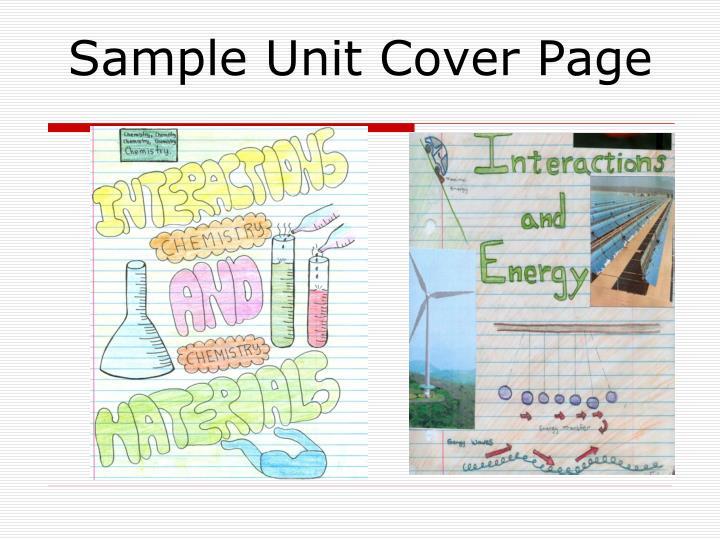 Sample Unit Cover