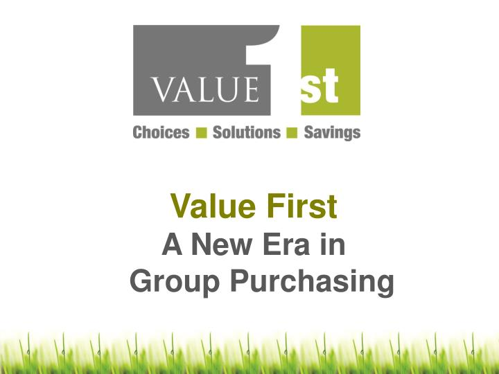 Value First