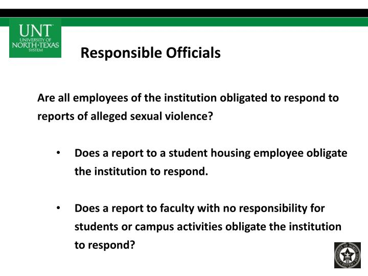Responsible Officials
