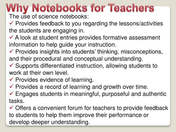 Why Notebooks for Teachers