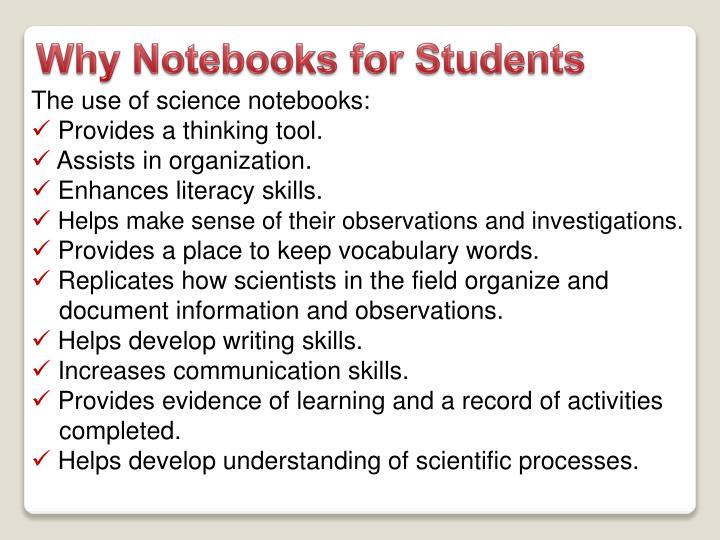 Why Notebooks for Students