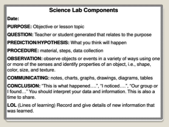 Science Lab Components
