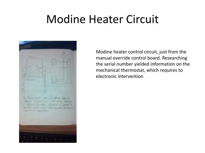 Modine Heater Circuit