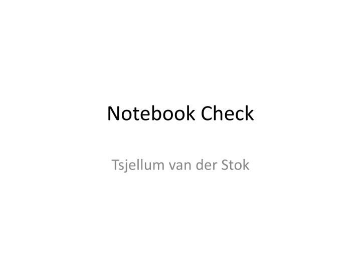 notebook check