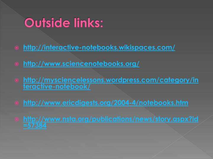Outside links: