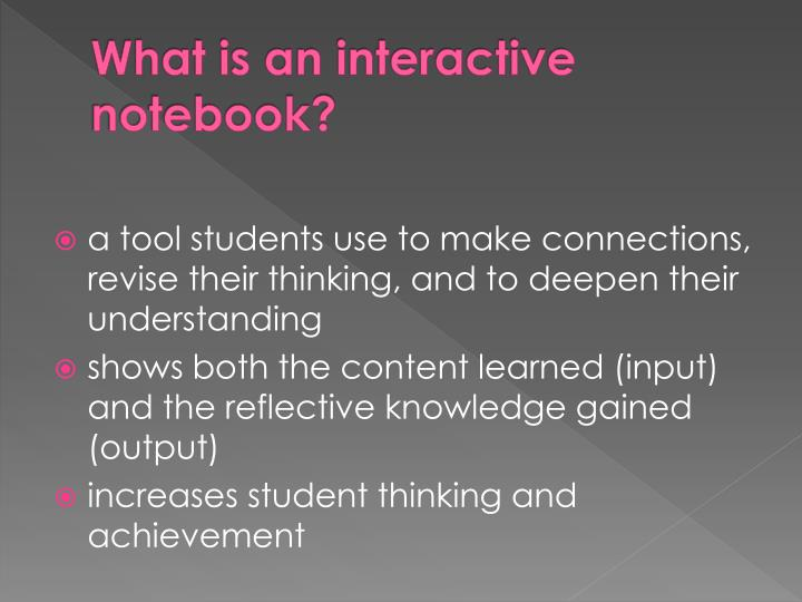 What is an interactive notebook?