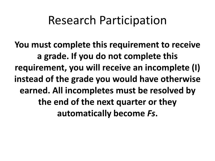 Research Participation