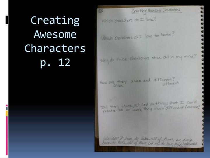 Creating Awesome Characters