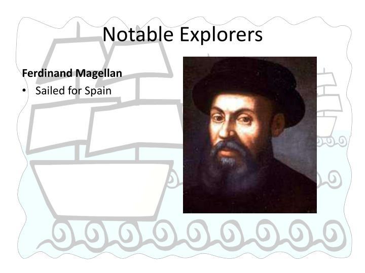 Notable Explorers