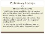 preliminary findings1