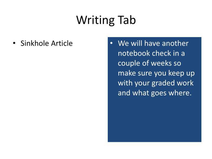 Writing Tab
