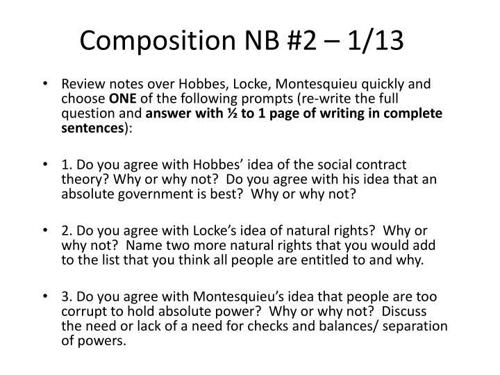 Composition NB #2 – 1/13
