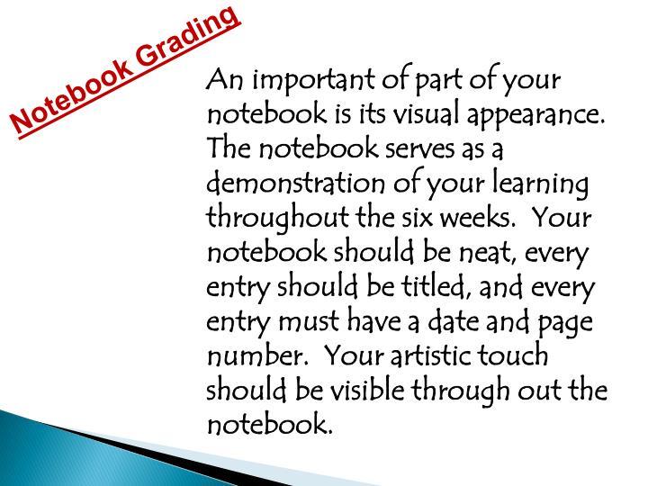 Notebook Grading