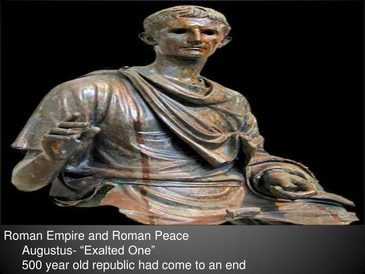 Roman Empire and Roman Peace