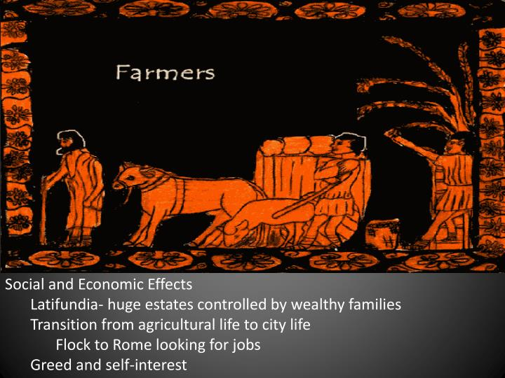 Social and Economic Effects