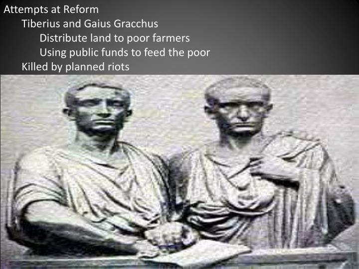 Attempts at Reform