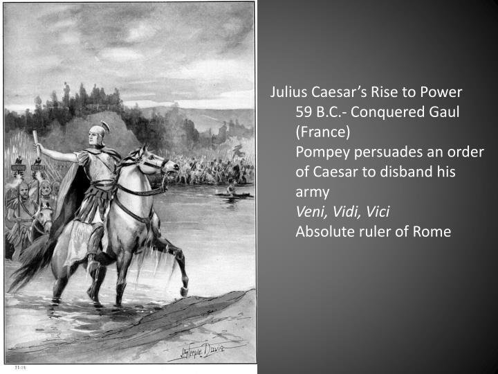 Julius Caesar's Rise to Power