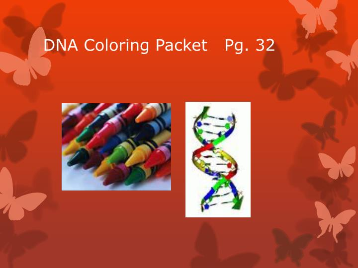 DNA Coloring Packet   Pg. 32