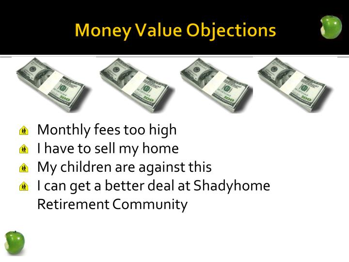 Money Value Objections