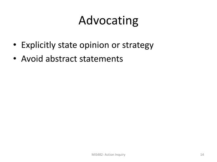 Advocating