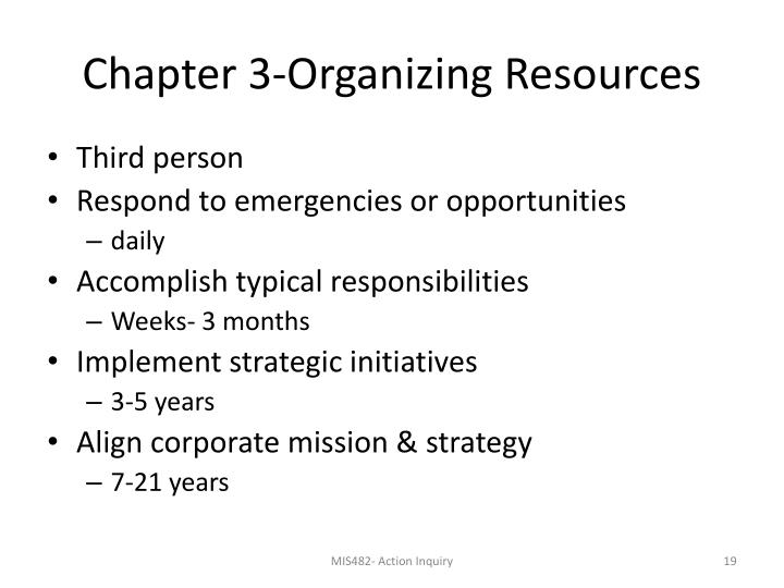 Chapter 3-Organizing Resources