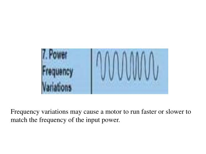 Frequency variations